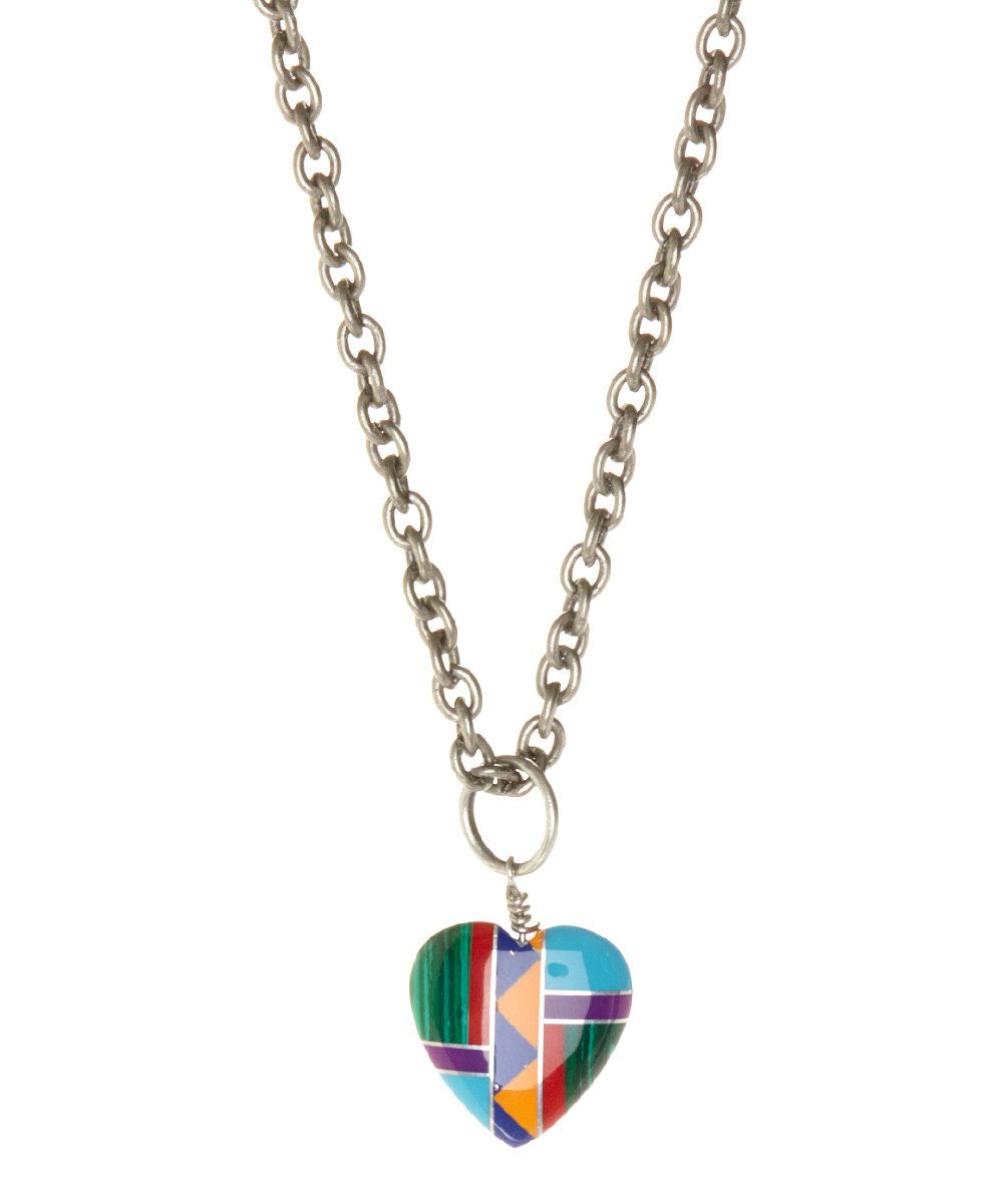 Look at this of earth lucite u rainbow heart pendant necklace on