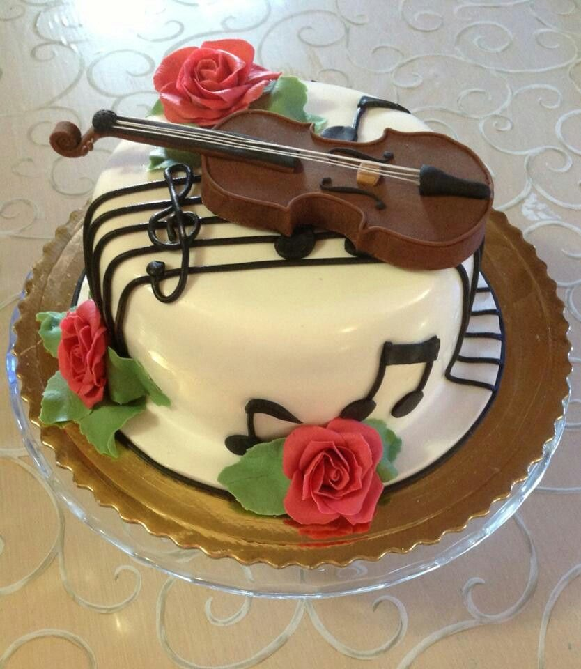 Birthday Cake Violin Musical Violin Cake Music
