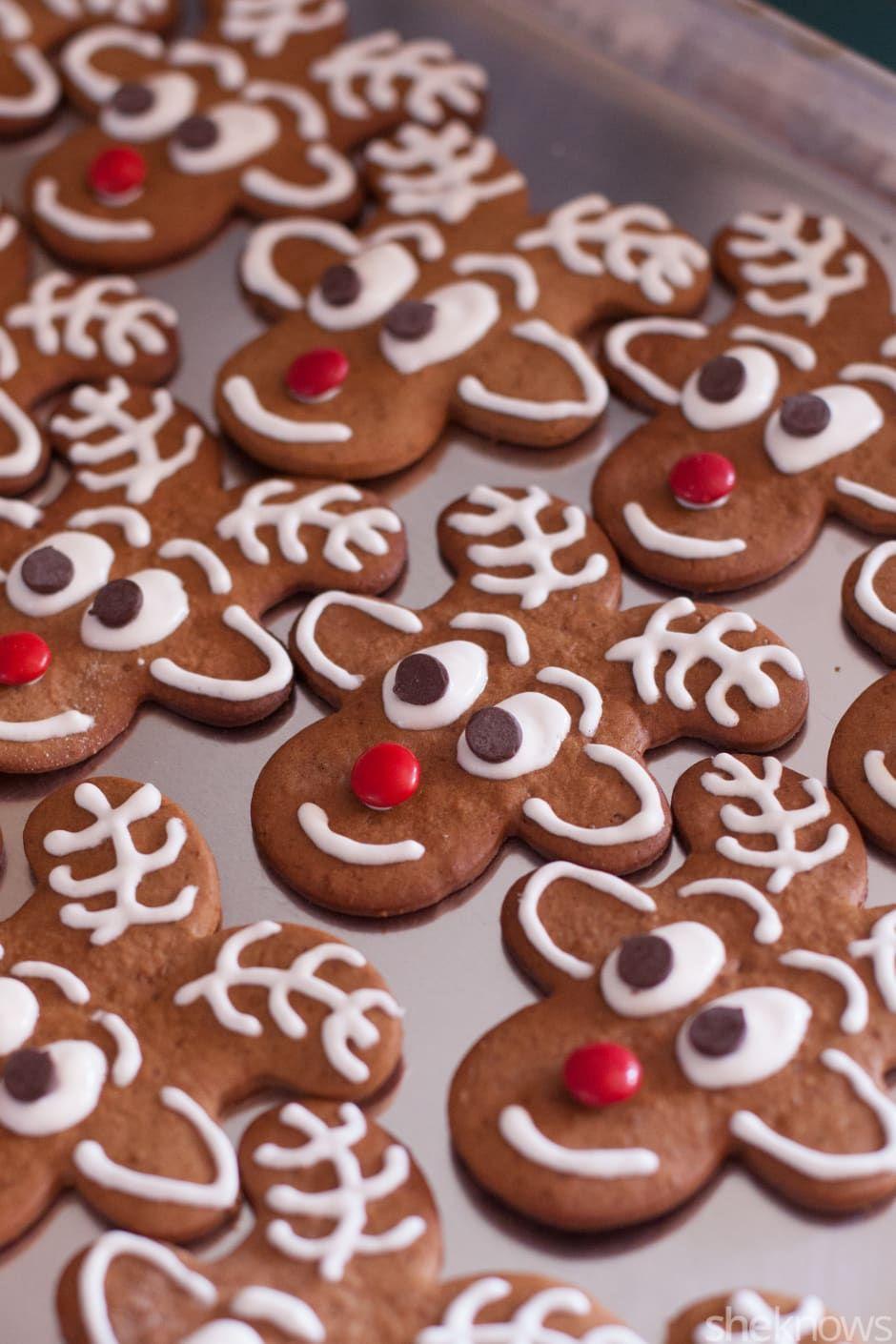 Upside Down Gingerbread Men Become Santa S Reindeer In These