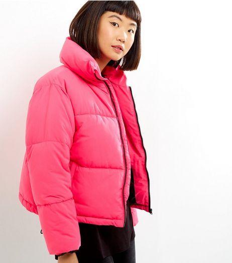 e29c3a412 Bright Pink Puffer Jacket | New Look | 1. Minimalist Fashion ...