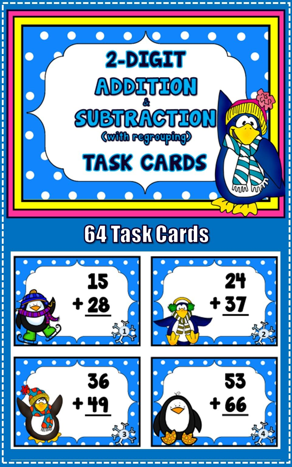 Add and Subtract 2-Digit Numbers | Math, Teacher pay teachers and ...