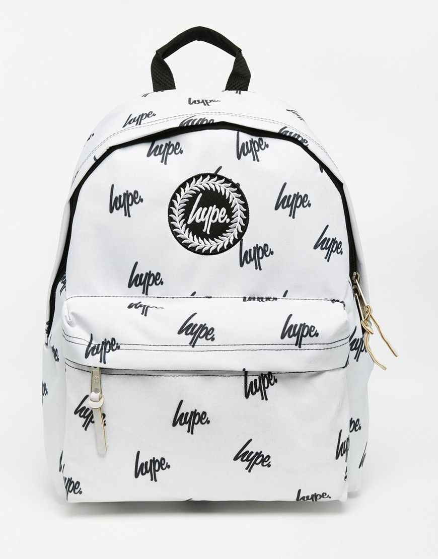 Do believe the hype, logo backpacks are all kinds of in this season