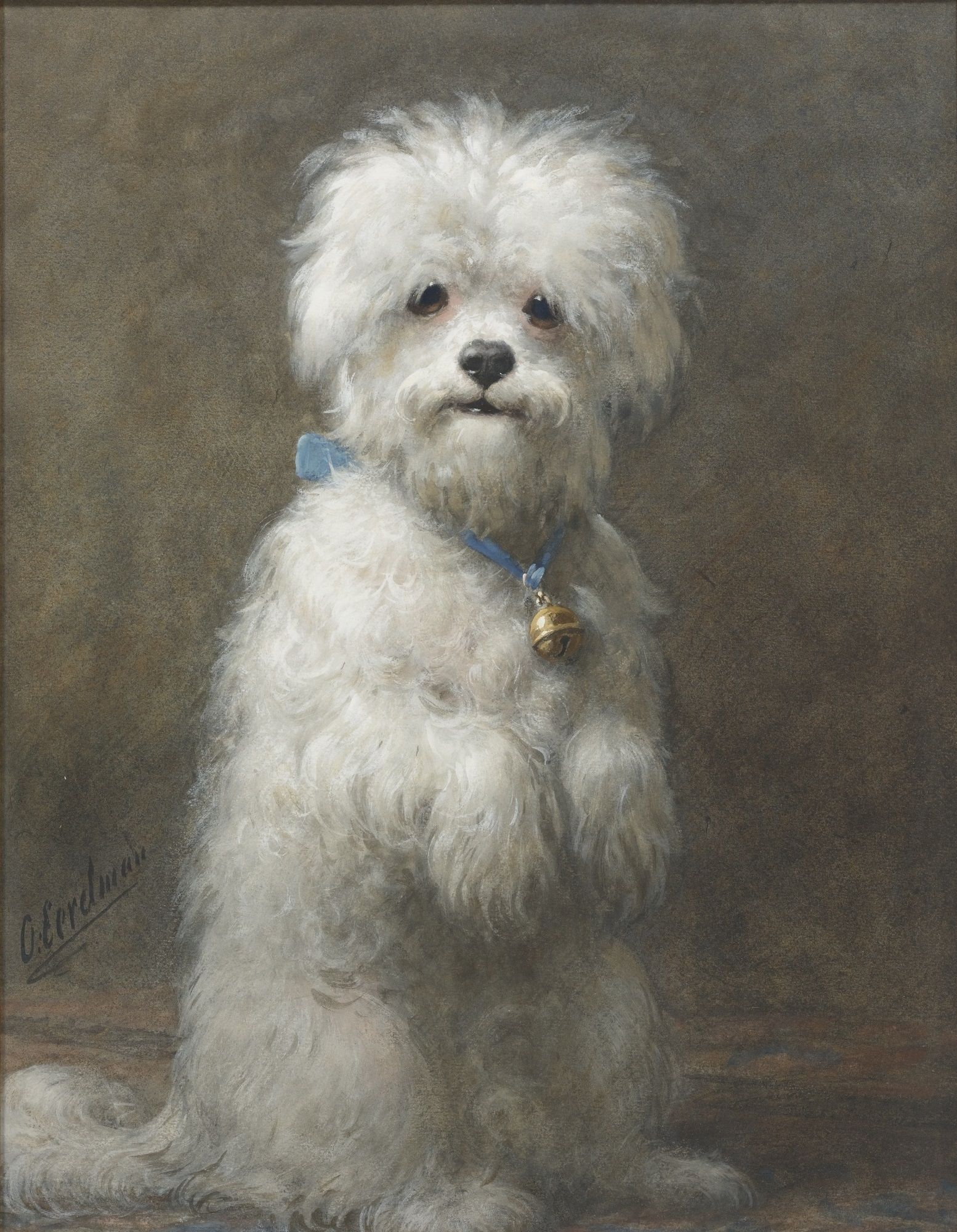 Sitting Up Painting By Otto Eerelman Dog Paintings Canine Art
