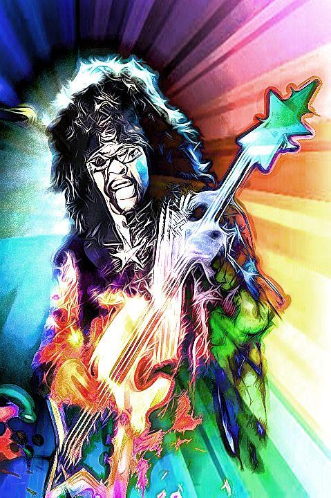Bootsy Blast Rock Art Music Legends Art