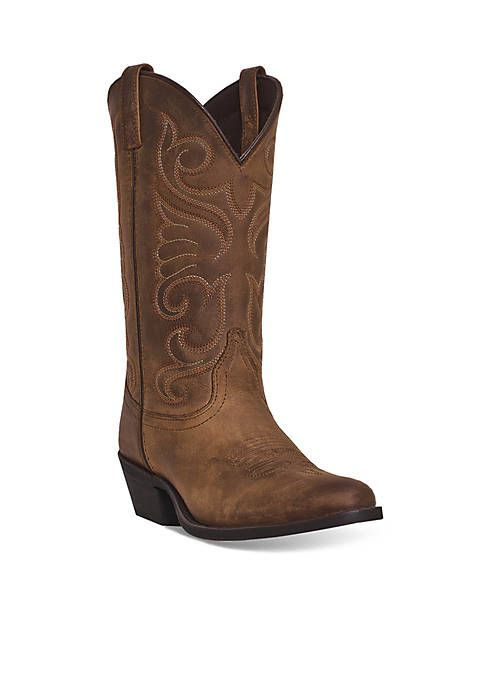 Cowboy Boots Distressed Leather