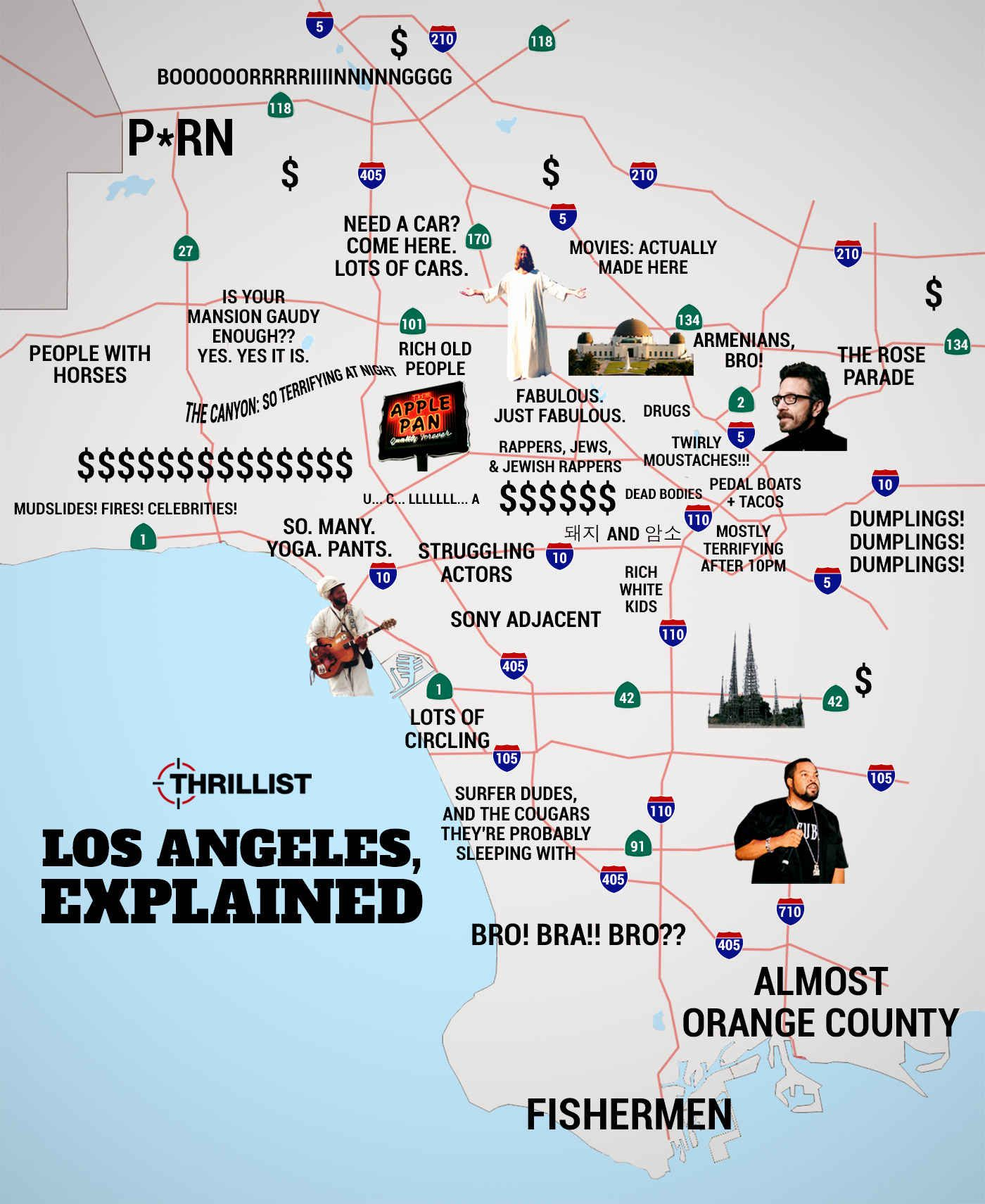 The Overly Truthful Map of LA