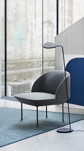 Via Emma B Nl Muuto Oslo Chair Leaf Lamp White Grey Blue Furniture Nordic Furniture Furniture Design