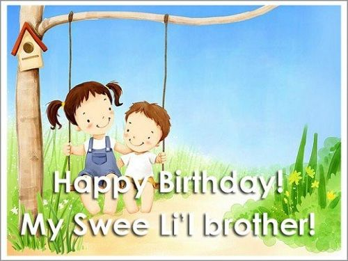 Happy Birthday Little Brother Images Meme Wishes Messages