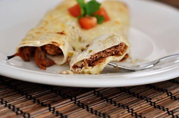 Honey Lime Chicken {or Pork} Enchiladas - Mel's Kitchen Cafe