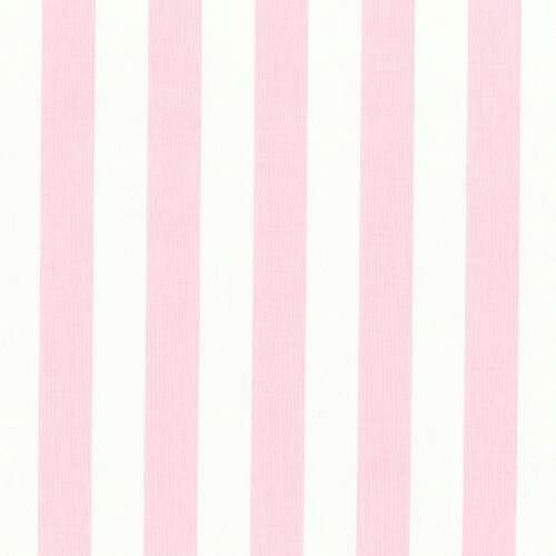 Pink and White Stripe Fabric by the Yard | Carousel ...