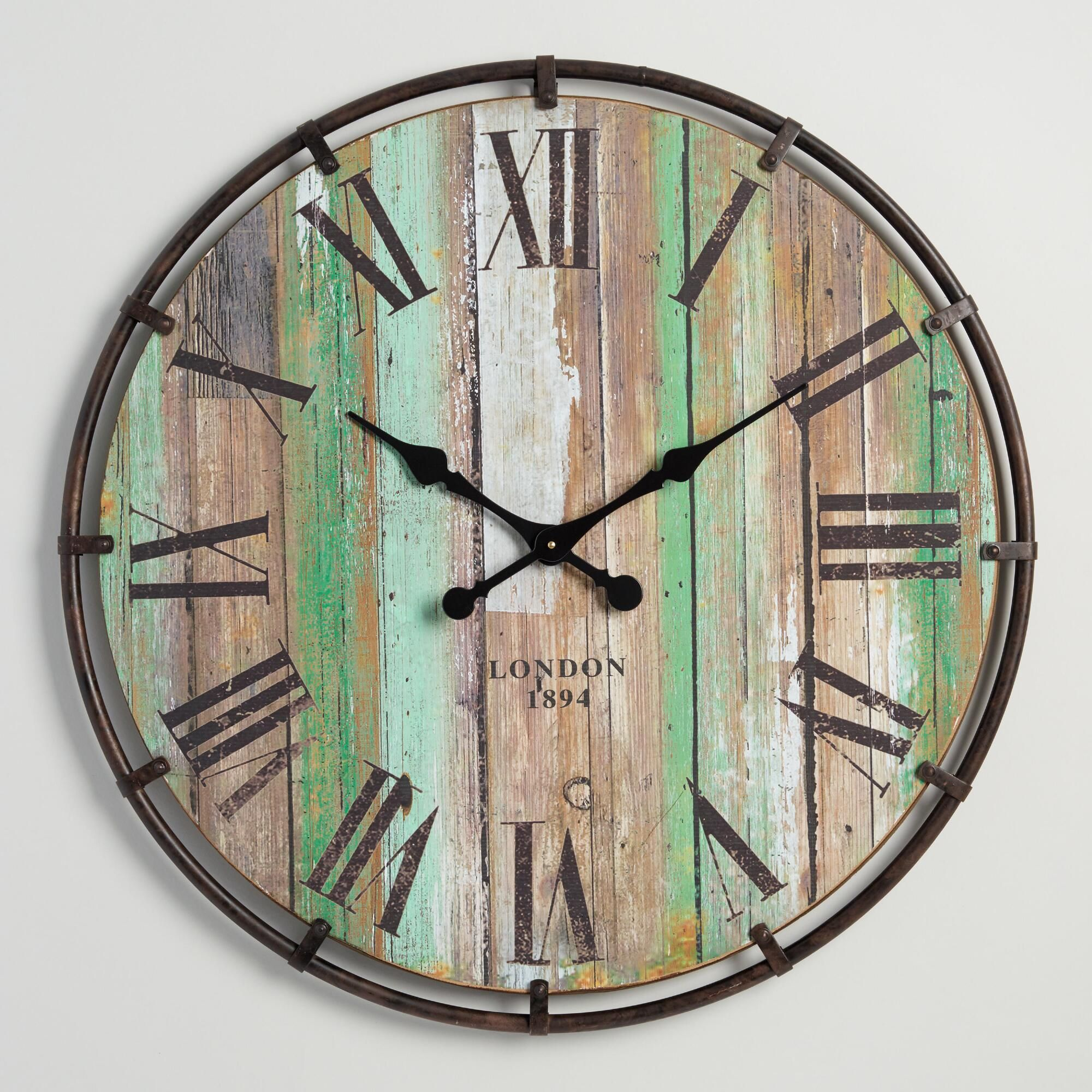 Bring Bold Flair To Your Decor With Our Ample Sized Wall Clock Featuring A