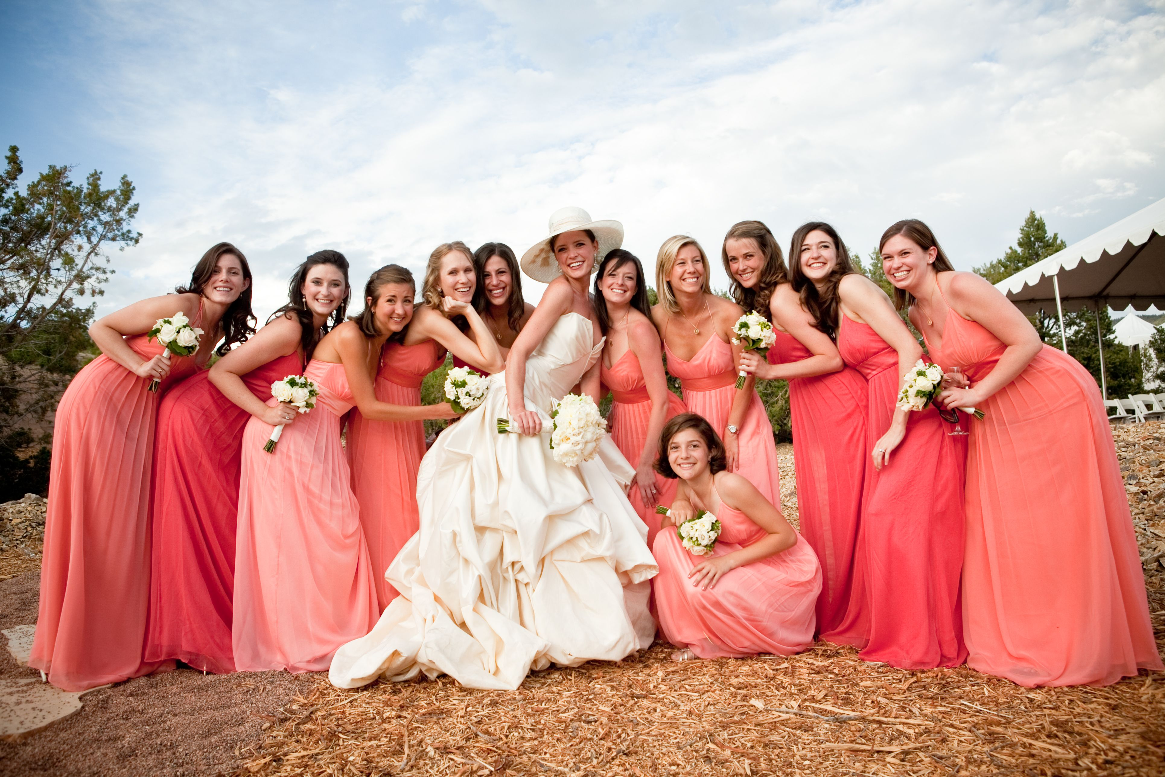 734fef0c4d I love the idea of different color dresses for bridesmaids!! | so ...