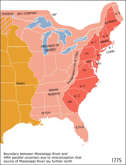 A map of the eastern half of the United States highlighting the