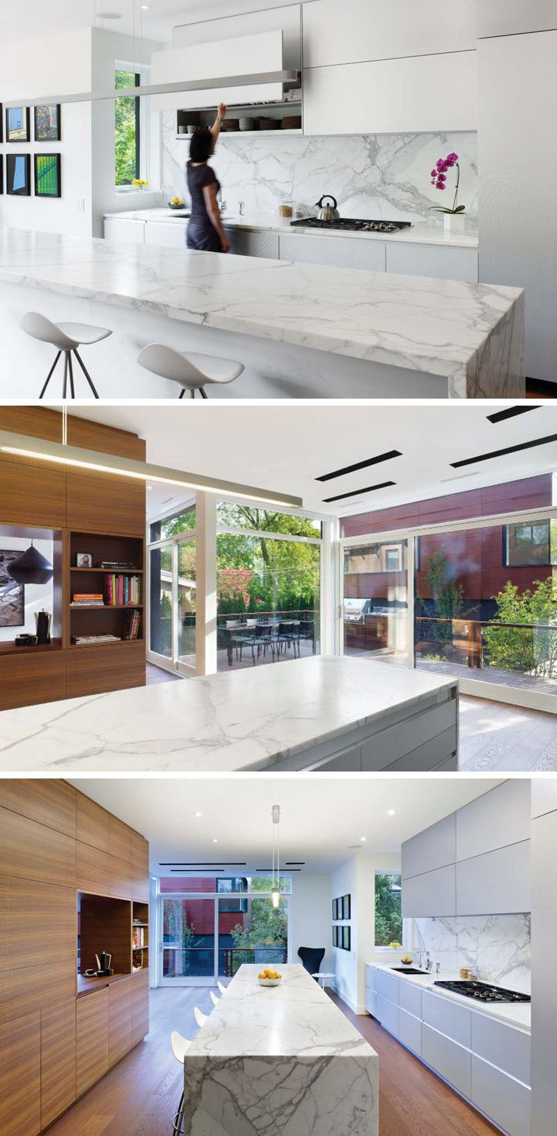 Kitchen Island Lighting Idea Use One Long Light Instead Of Multiple Pendant Lights Interior Architecture Design House Design Kitchen Island Lighting