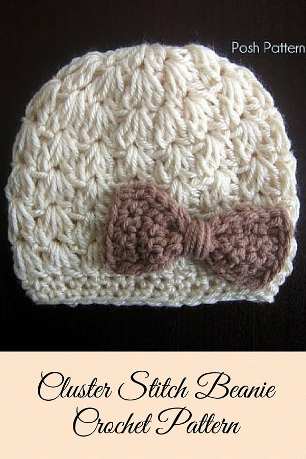 Crochet Pattern Crochet Bow Hat Pattern Crochet Pattern Hat