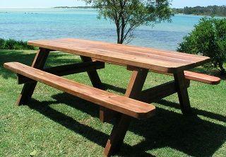 Fine Billabong Picnic Table Wood Tables Chairs Stools Machost Co Dining Chair Design Ideas Machostcouk