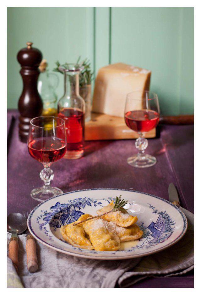 Medialunas al azafr n rellenas de berenjenas y alcachofas pasta artichokes and eggplants - Maquina para hacer macarrones ...