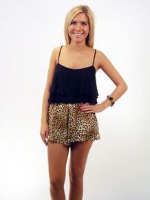 Leopard Ruffle Shorts