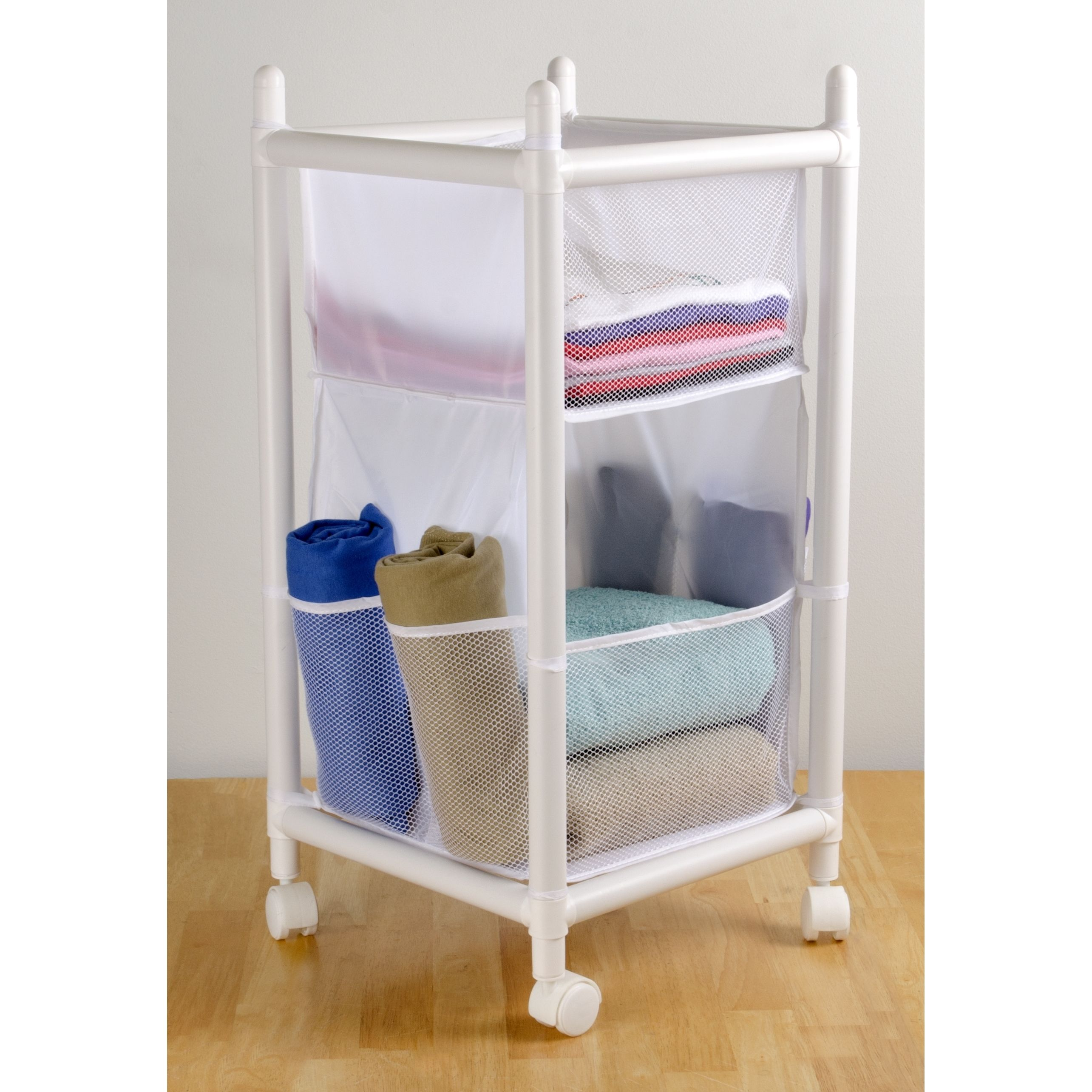 Organize your space in style with this laundry and storage unit