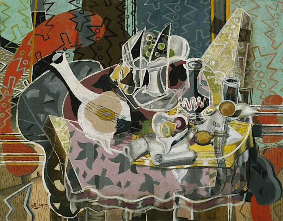 Georges Braque - Still Life with Fruits and Stringed Instrument - 1938