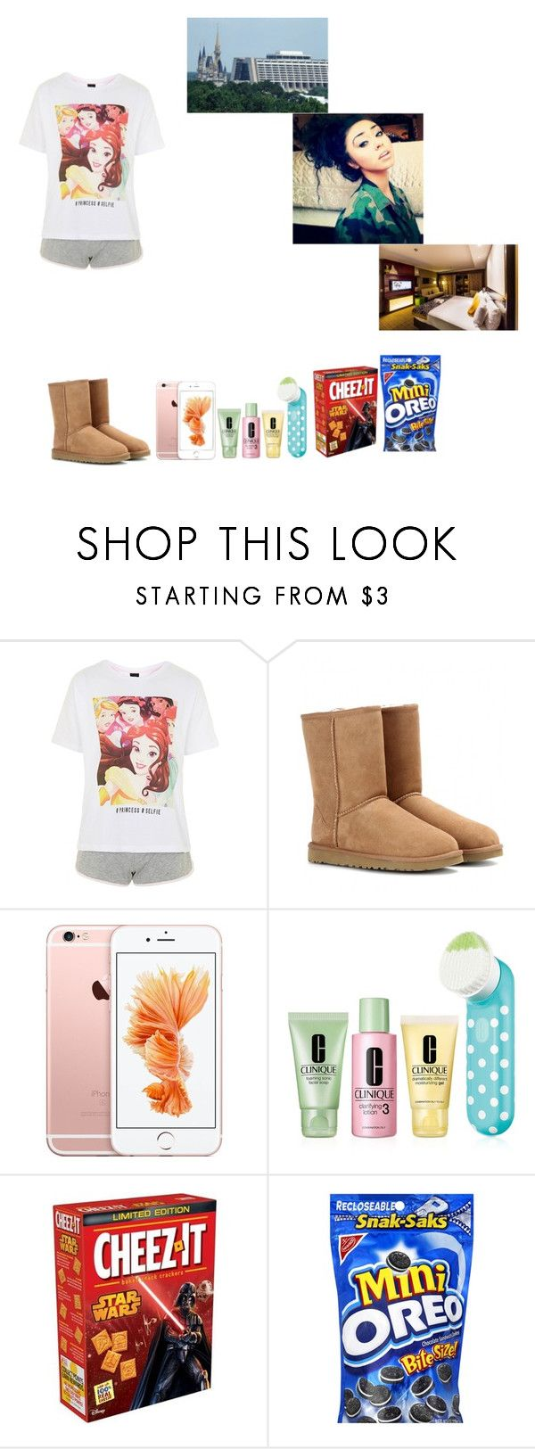 """We're Here -Krissy"" by krissyk-15 on Polyvore featuring Topshop, UGG Australia, Clinique and Disney"