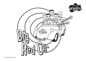 The Wiggles Colouring Page Big Red Car Coloring Pages Wiggles Birthday Free Coloring Pages