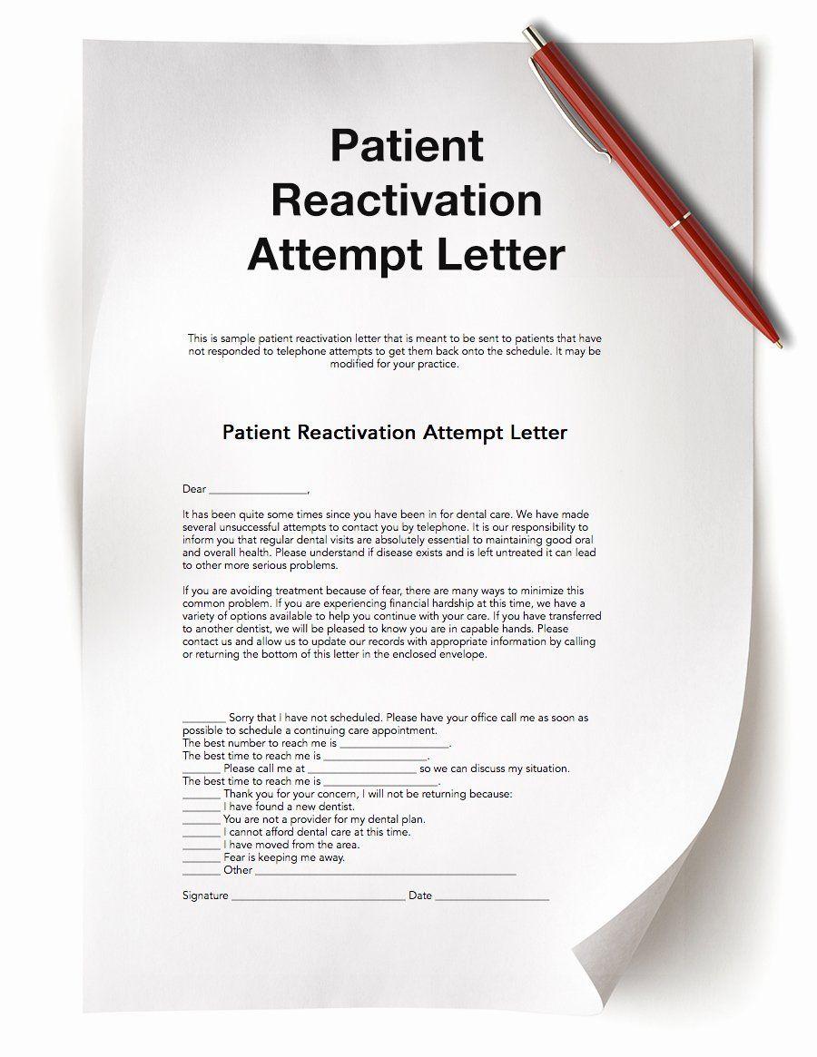 Patient Dismissal Letter Dental Luxury Dental Practice