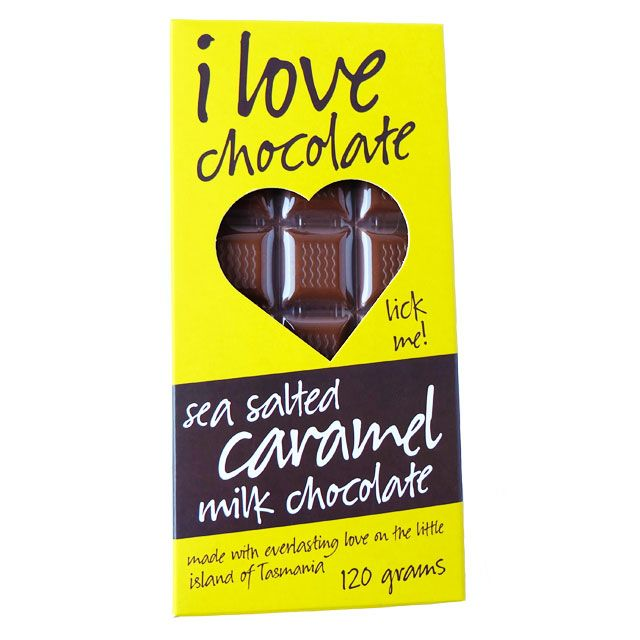 This I Love Chocolate 120g Chocolate Block Features Smooth