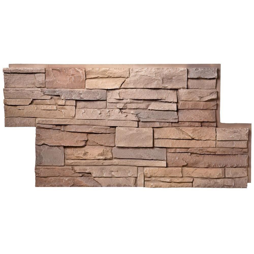 Best Genstone Stacked Stone 24 In X 42 In Desert Sunrise Faux 400 x 300