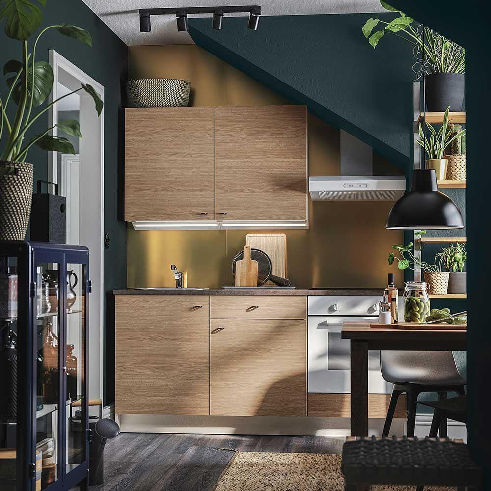 Cuisine Knoxhult Studio Cosy Lumineux En 2020 Ikea Deco Cuisine Bois Petite Cuisine Moderne