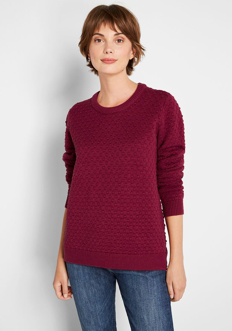 Excellent Example Textured Sweater