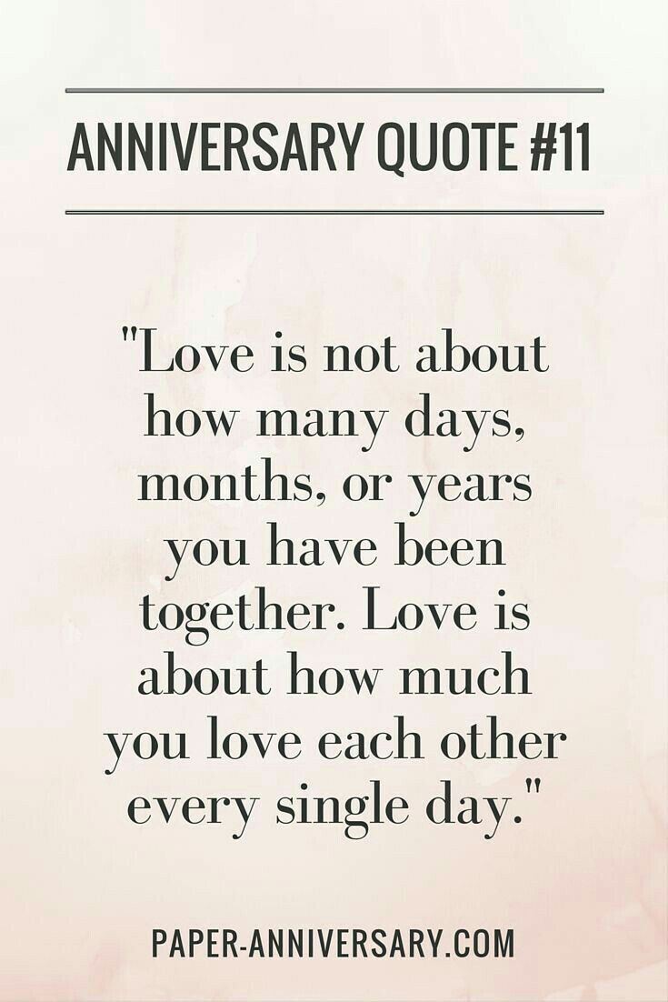 "husband SO true LOVE this anniversary quote ""Love is not about how many days months or years you have been to her Love is about how much you love"