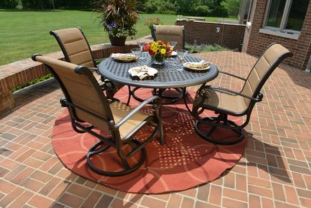 the leda collection 4 person cast aluminum patio furniture high
