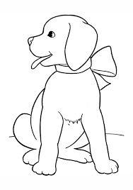 Image Result For Simple Christmas Dog Drawing Easy Dog Drawing Simple Dog Drawing Dog Coloring Page