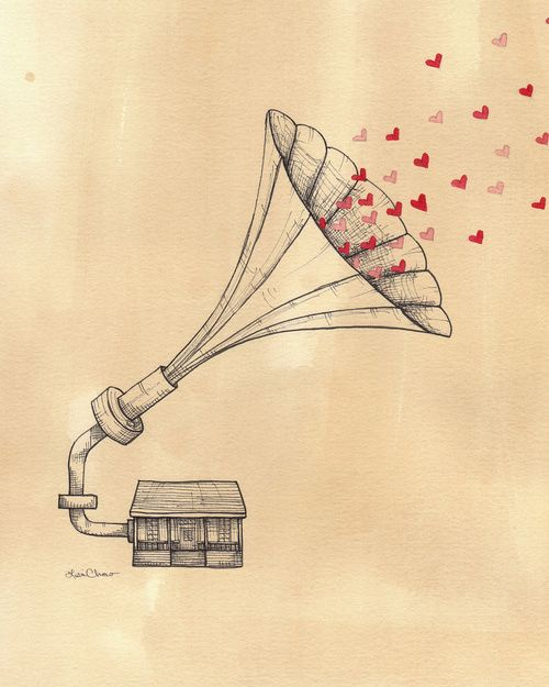 imagen de music love and heart
