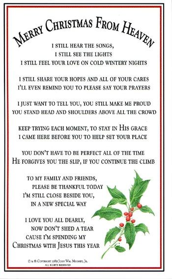 christmas poems for mom in heaven as john prayed that night the words to a very special poem