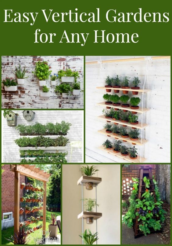 Vertical Garden Planters Are Easy To Make Or Buy For A Herb Or