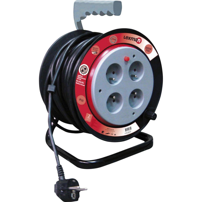 Enrouleur De Cable Electrique Bricolage Avec Terre L 50 M Ho5vvf 3g1 5 Lexman Enrouleur De Cable Cable Electrique Et Electrique