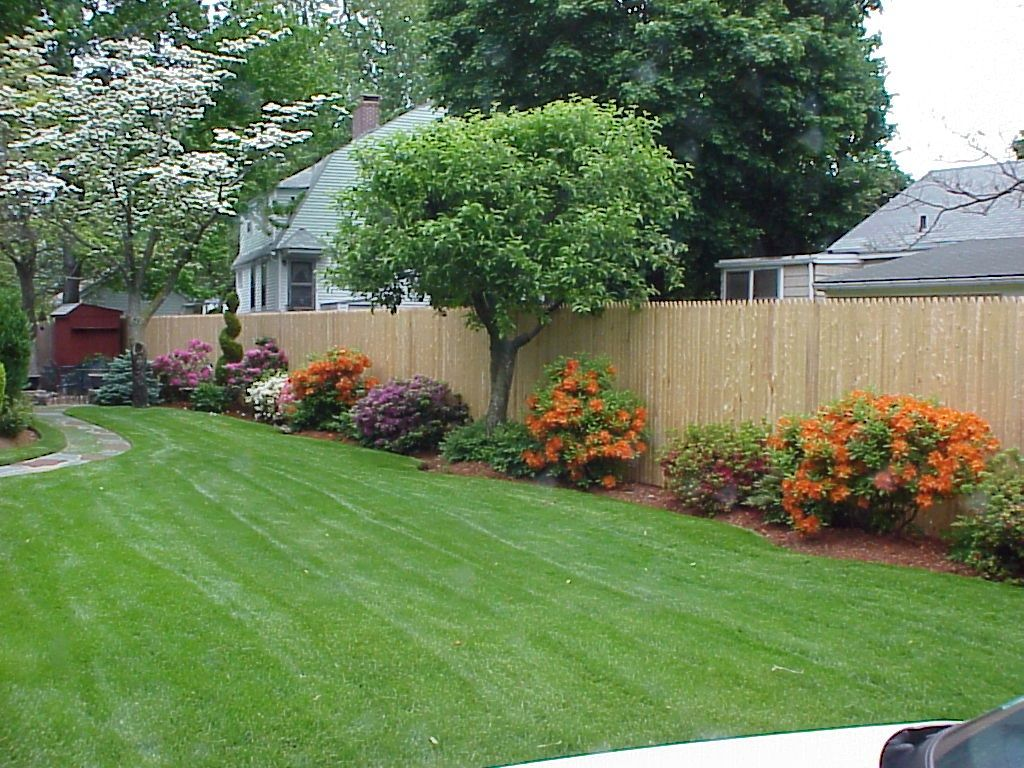 Side view | Landscaping along fence, Backyard fences ... on Backyard Landscaping Along Fence id=63150