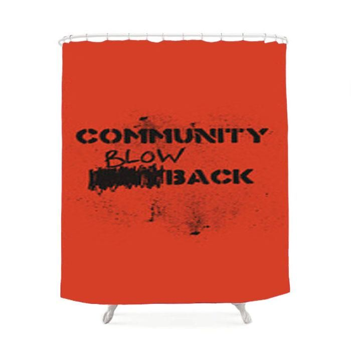 Misfits Community Blowback Shower Curtain