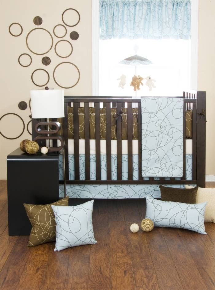 Blue & brown nursery theme