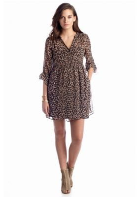 TWO by Vince Camuto  Leopard Shirtdress
