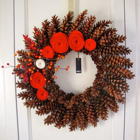Couronne De Noel Couronne Decorative Pommes De Pin