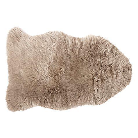 Buy John Lewis Single Sheepskin Rug Online at johnlewis.com mocha £35