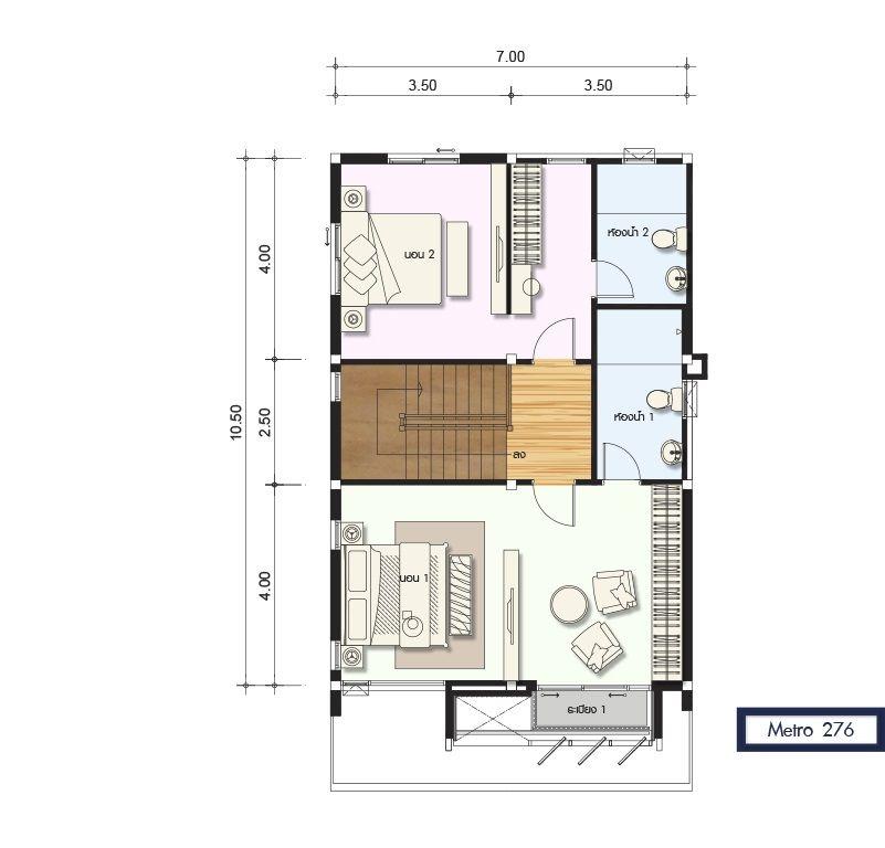 5 Ideas Home Design Plan 7x10m House Plan Map Home Design Plans Duplex House Design Home Design Plan