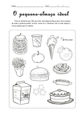 Alimentacao Pequeno Almoco Com Imagens Dia Da Alimentacao