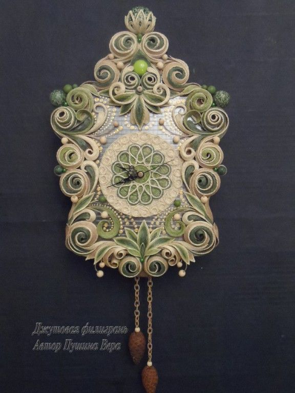 OK.RU, decoration made out of jute with a technique similar to quilling