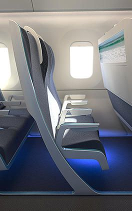 This Airplane Seat Shapeshifts To Your Body Airplane Interior