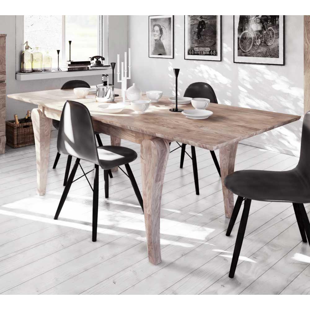 Design Esstisch aus Eiche Massivholz weiß geölt Jetzt bestellen ...