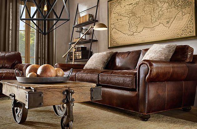 Von Restoration Hardware haben wir euch schon einige coole Möbel und Wohnideen vorgestellt. Heute geht es um Wohnzimmer. Wer also bei sich zuhause etwas verändern will, kann sich hier einige Inspirationen holen. Die Möbel und Accessoires gibt es natürlich #restorationhardware
